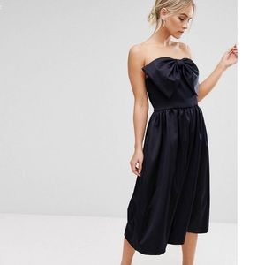 ASOS strapless formal romper with Bow size X-small
